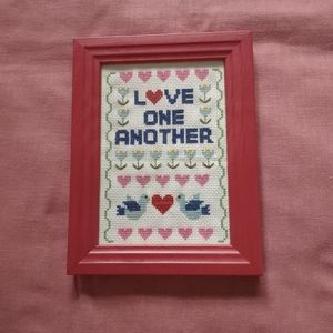 Hand made count cross stitch